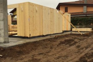 Case in legno fase di installazione