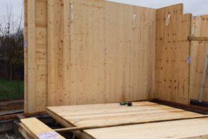 Case in legno materiale