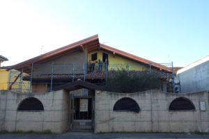 Vista fronte nuova struttura tetto